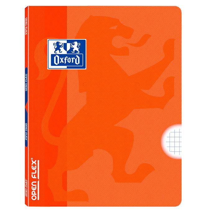 Libreta grapada tapa plastico openflex a4 48h 5x5 naranja