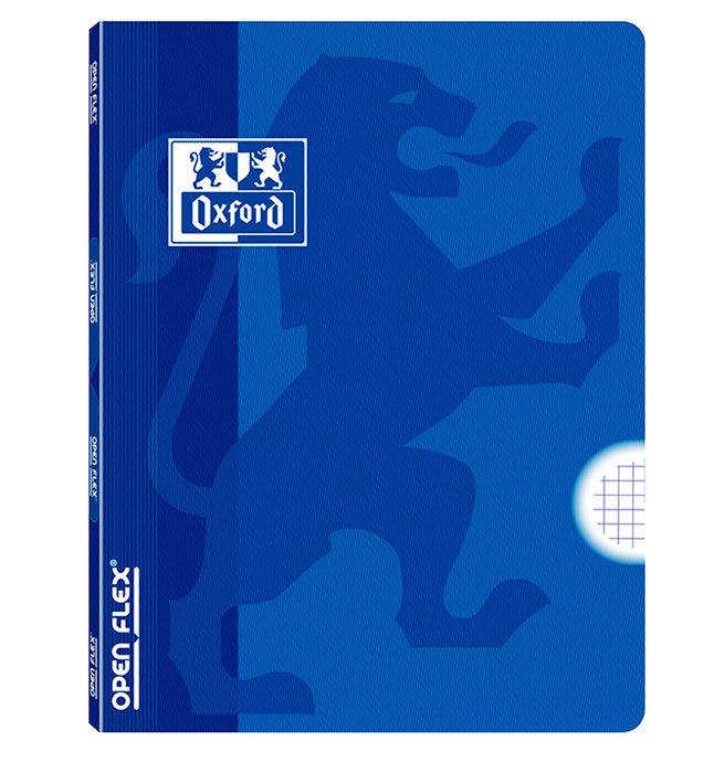 Libreta grapada tapa plastico openflex a4 48 hojas 4x4 azul
