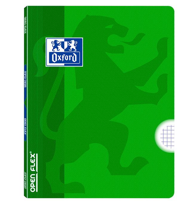 Libreta grapada tapa plastico openflex a4 48h 4x4 verde