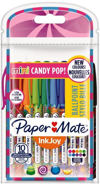 Boligrafo inkjoy 100st candy pop bolsa 10 colores surtidos