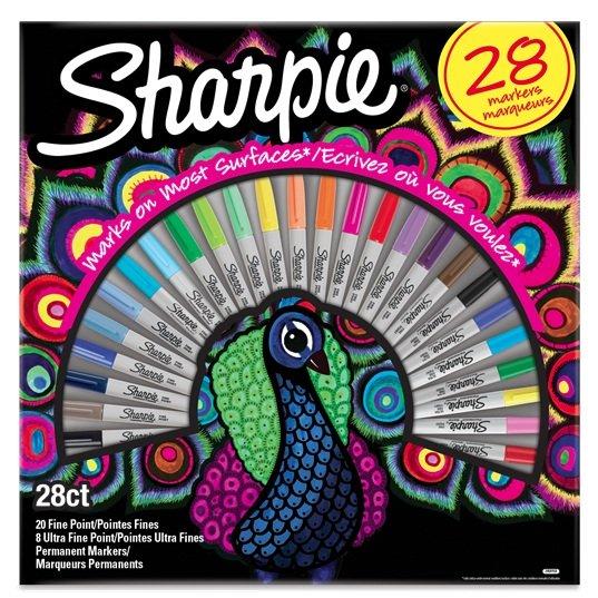 Rotulador sharpie peacock 28 colores surtidos