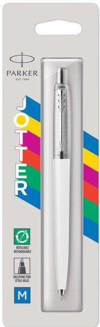 Boligrafo jotter original classic blanco blister 1 unid