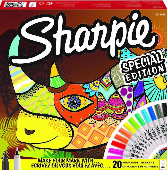 Rotulador sharpie big pack rhino 20 colores surtidos