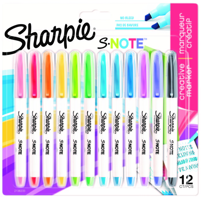 Rotulador sharpie s notes blister 12 colores surtidos