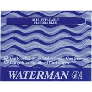 Cartucho tinta waterman azul c/8