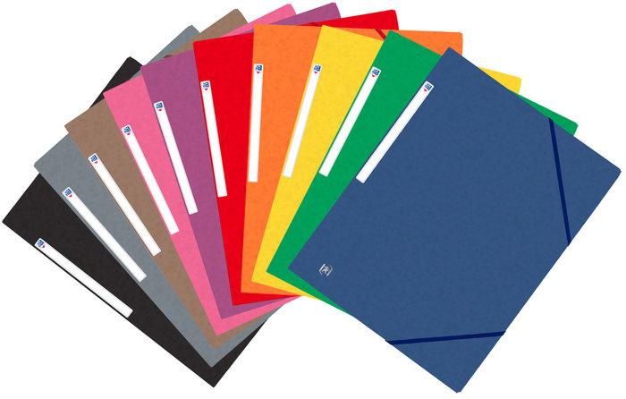Carpeta a4 gomas solapa oxford top file colores vivos