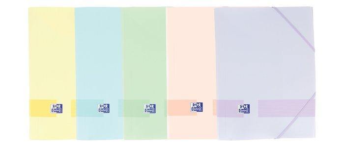 Carpeta gomas solapas live&go tp a4+ pastel