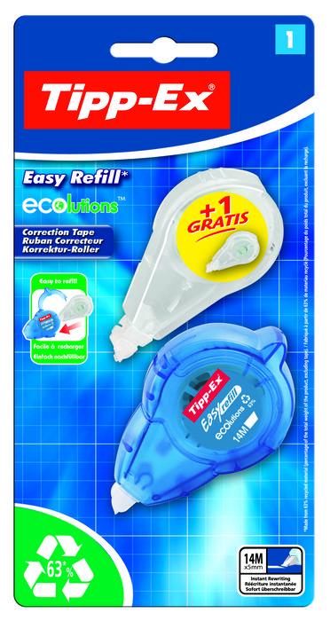 Corrector bic eco easyref blister 1+1 unidades 8794401