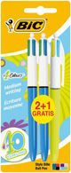 Boligrafo bic 4 colores blister 2+1 uds surtido 883783