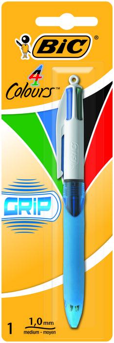 Boligrafo bic 4 colores grip medio blister 8871292