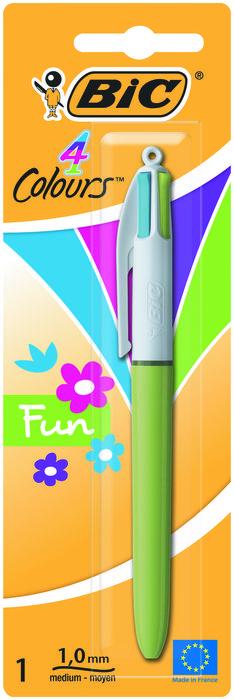 Boligrafo bic 4 colores fun pastel blister 887776
