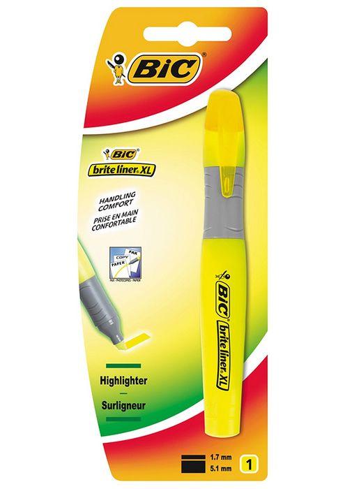 Marcador bic brite liner xl amarillo blister 1 ud 891399