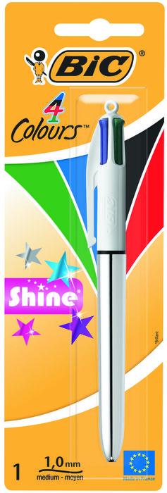 Boligrafo bic 4 colores shine blister 902126