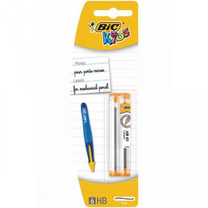 Minas bic kids 1,3mm blister 2 tubo 6 uds