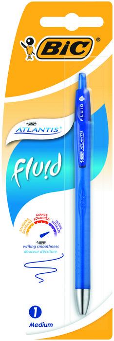 Boligrafo bic atlantis fluid azul blister 1 unidad