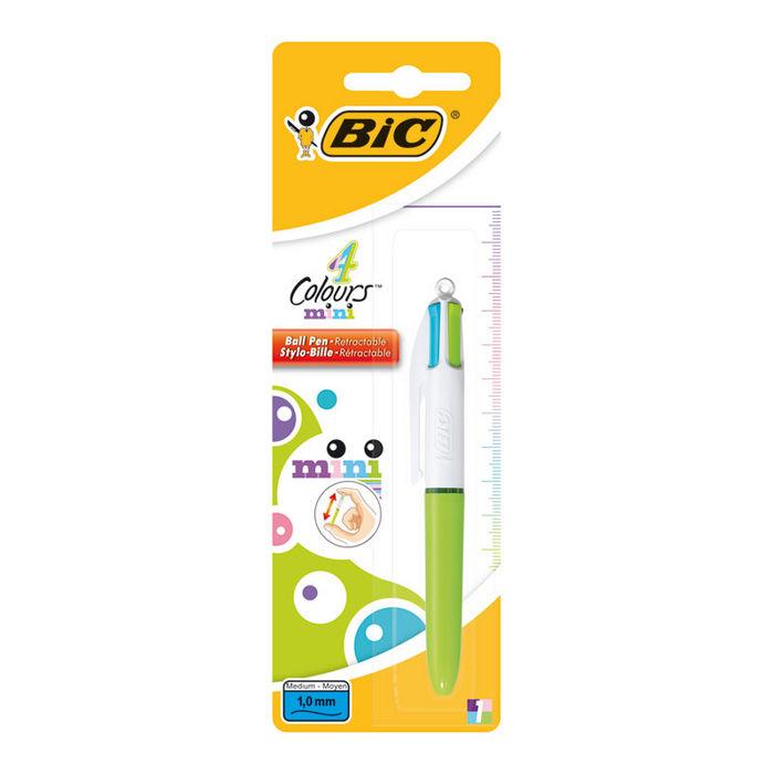 Boligrafo bic 4 colores mini fashion blister 918511