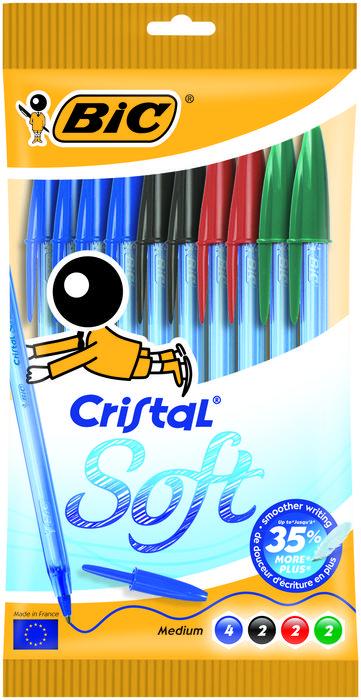 Boligrafo bic cristal soft blister 10 uds surtido 918533