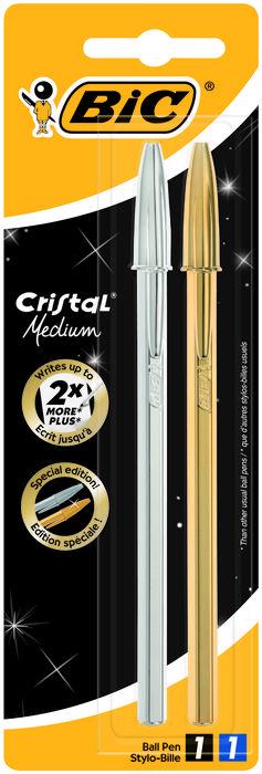Boligrafo bic cristal celebrate blister 2 unidades