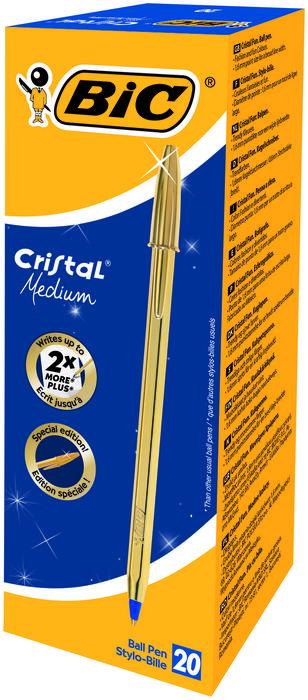 Boligrafo bic cristal oro