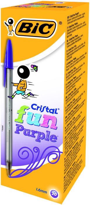 Boligrafo bic cristal fun large purpura