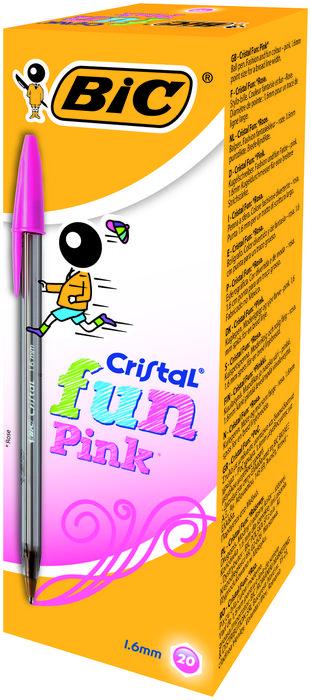 Boligrafo bic cristal fun large rosa
