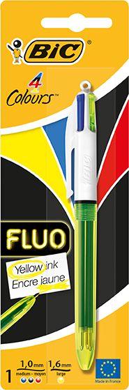 Boligrafo bic 4 colores neon blister 933949