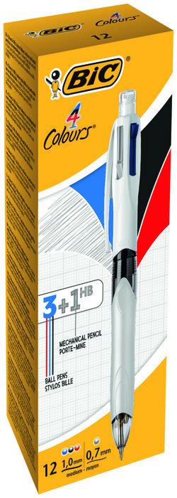 Boligrafo bic 4 colours multifuncion 3 colores y portaminas