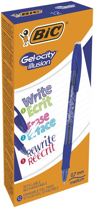 Boligrafo bic gelocity illusion azul