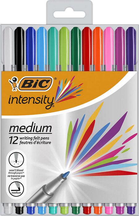 Rotulador bic intensity medium 12 colores surtidos