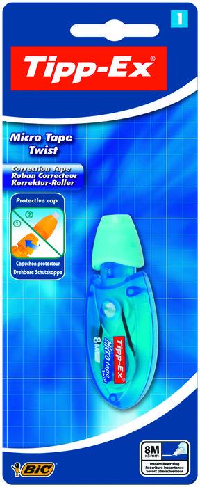 Corrector bic micro tape twist blister 1 unidad