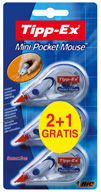 Corrector bic mini pocket mouse blister 2+1 uds 8983742