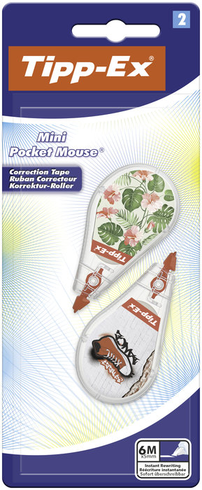 Corrector cinta tipp-ex mini pocket mouse messages blister 2