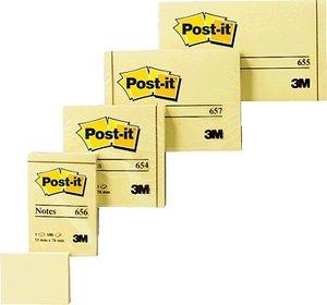 Notas adhesivas 76x76 post-it 654 amarillo
