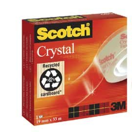 Cinta adhesiva 33x19 scotch crystal tape