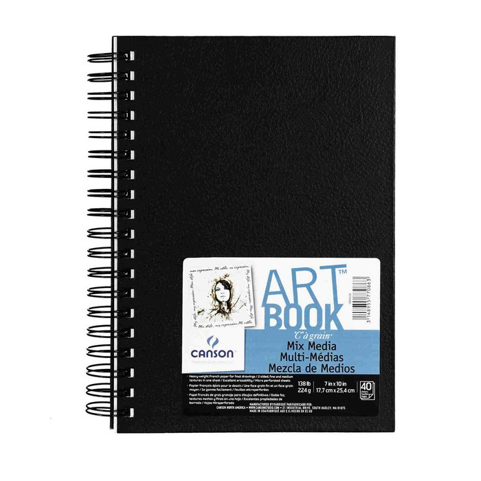 Album espiral 17.8x25.4 40h canson mix media art book