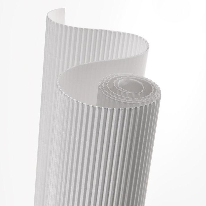 Carton ondulado 50x70 blanco