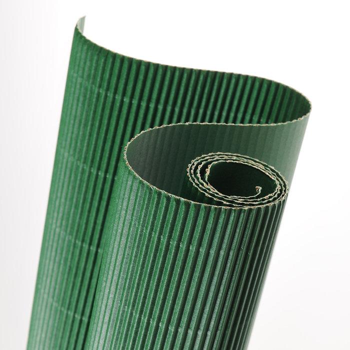 Carton ondulado 50x70 verde selva