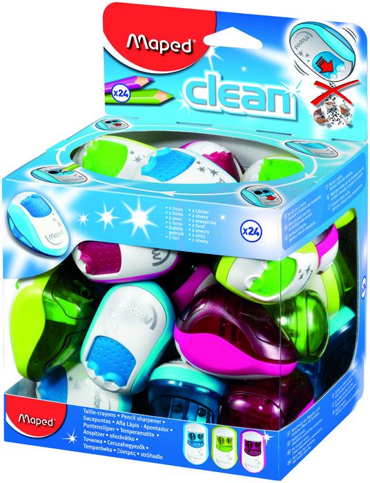 Sacapuntas clean 2 usos con deposito