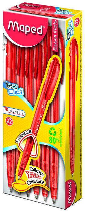 Boligrafo green ice clic rojo caja
