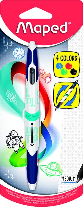 Boligrafo medio 4colores std x1 blister