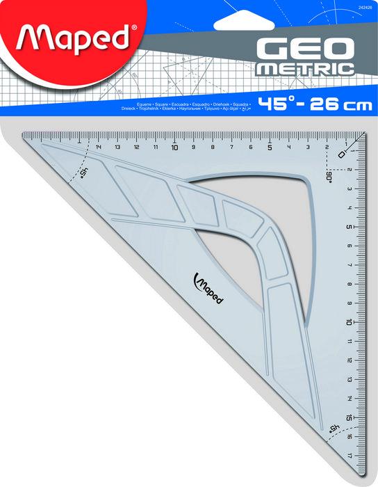 Escuadra geometric 45/26cm bolsa