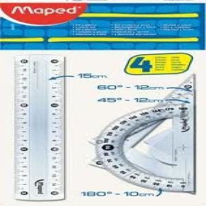 Juego reglas maped maxi kit 4 piezas