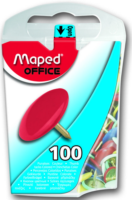 Chinchetas colores 10mm x 100 caja