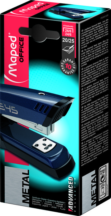 Grapadora advanced azul hs 24-26/6 caja