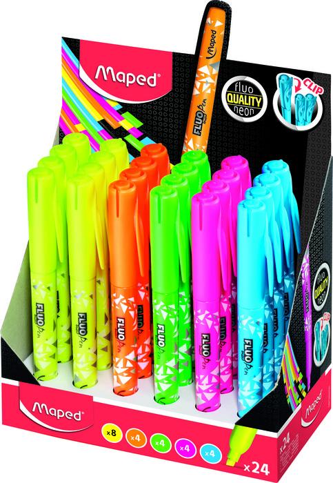 Marcador maped fino fluo pen 24 colores surtidos