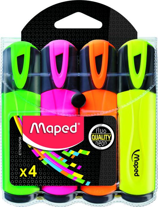 Marcador fluo colores sorti x4 funda