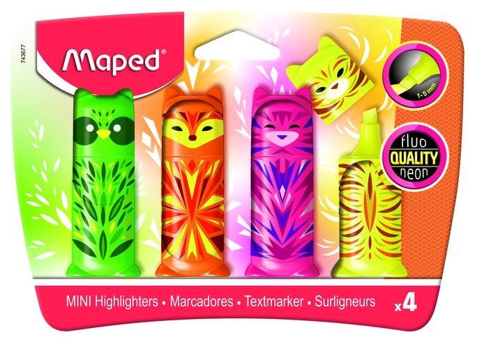 Marcadores fluo mini friends pocket colores surtidos