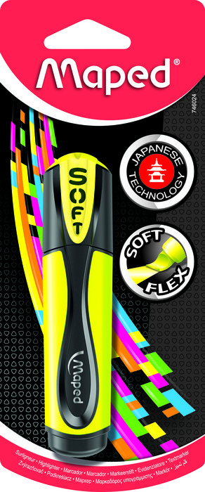 Marcador fluo soft amarillo x1 blist