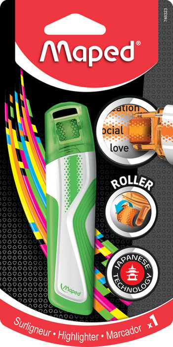 Marcador fluo roller verde blister