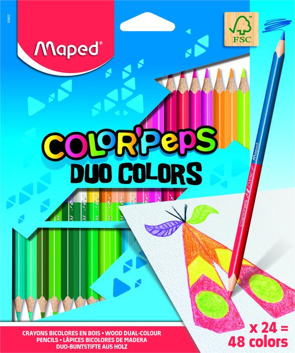 Lapiz bicolor color'pepsx24 estuche cart